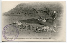 CPA Maroc BOU DENIB Cadavres Marocains Au Pied De La Gara Attaque 1.9.1908 - Cachet Commandement Militaire Haut Guir - Altri