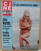 CINE REVUE N°24/1973, Dany Carrel, John Wayne, Géraldine Chaplin, Voir Description - Cinema