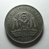 Mauritius 5 Rupees 1991 - Mauritius