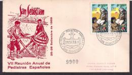 España - 1969 - Cachets Spéciaux - VIIe Réunion Annuelle Des Pédiatres Espagnols - San Sebastian - Medizin