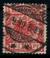 D-REICH KRONE ADLER Nr 47e Gestempelt Gepr. X72703A - Used Stamps