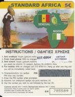 GREECE - Standard Africa, Amimex Prepaid Card 5 Euro(807 6964), Mint - Grèce