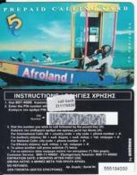 GREECE - Afroland, Amimex Prepaid Card 5 Euro(211 1769302), CN : 555 + 6 Digits, Tirage %20000, 05/03, Mint - Grèce