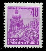 DDR 1953 Nr 376XII Postfrisch Gepr. X7BACCE - [6] Democratic Republic