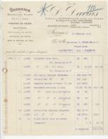 Charente : D. DAVIAS à Jarnac, Verrerie, Panier Osier, Bouchons, Articles Chai / Fact De 1921 - 1900 – 1949