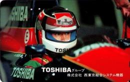 JAPON. SPORT. COCHES - CARS.  Toshiba, Team Larrousse (Aguri Suzuki). JP-110-011. (071) - Sport