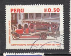 Pérou, Peru, Camion De Pompier, Firefighter Truck - Sapeurs-Pompiers