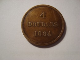 MONNAIE GUERNESEY // 4 DOUBLES 1864 - Guernsey