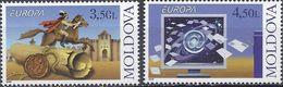 Moldova, 2008, Mi. 611-12, Y&T 533-34, Sc. 584-85, SG 603-04, Europa, The Letter, MNH - Moldova