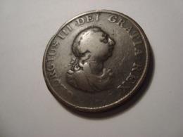 MONNAIE GRANDE BRETAGNE 1/2 PENNY 1799 - 1662-1816 : Acuñaciones Antiguas Fin XVII° - Inicio XIX° S.