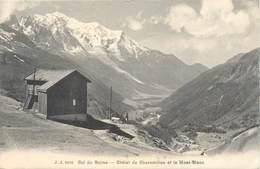 """CPA FRANCE 74 """"Col De Balme, Chalet De Charamillon Et Le Mont Blanc"""" - Autres Communes"""