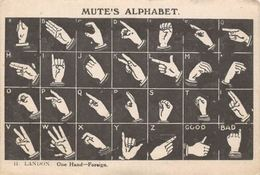 Mute's Alphabet, H. Landon One Hand-Foreign - Postcards