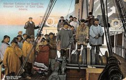 Russia Siberia Steamer Corwin, East Cape, Siberian Eskimos On Board F.H. Nowell - Russia