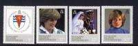 FALKLAND ISLANDS DEPENDENCIES - 1982 PRINCESS DIANA 21st BIRTHDAY SET (4V) FINE MNH ** SG 108-111 - Falkland Islands