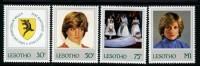 LESOTHO - 1982 PRINCESS DIANA 21st BIRTHDAY SET (4V) FINE MNH ** SG 514-517 - Lesotho (1966-...)