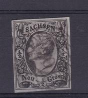 König Johann I ½ Ngr. Mit Nummernstempel 30 (= Adorf) - Saxony