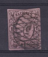 König Johann I 1 Ngr. Mit Nummernstempel 45 (= Löbau) - Saxony