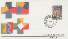 Enveloppe  FDC  1er  Jour   GRECE    EUROPA    1989 - Europa-CEPT