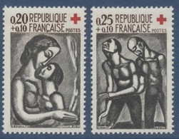 N° 1323 & 1324 Croix-Rouge Faciale 0,20+0,10 F & 0,25+0,10 F - Ungebraucht