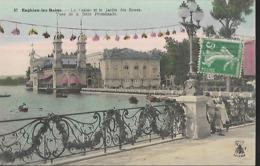 Enghien Les Bains  Le Casino Et Le Jardin Des Roses  Vues De La Jetée Promenade - Enghien Les Bains