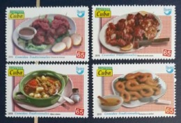 Cuba 2019 America UPAEP. Tradicional Foods 4v MNH - Alimentazione