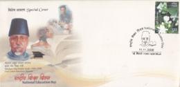 India  2008  Islam  Maulana Abul Kalam Azad  National Education Day  Special Cover  # 24029   D Inde  Indien - Islam