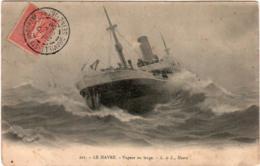 4SKS 114. LE HAVRE -  VAPEUR AU LARGE - Le Havre