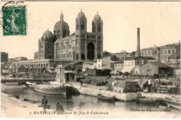 4SKS 746. MARSEILLE - CANAL SAINT JEANNE ET CATHEDRALE - Marseilles