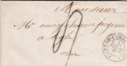 LAC De Flers-de-l'Orne (61) Pour Laigle (61) - 26 Septembre 1848 - CAD Rond Type 15 - Taxe Manuelle 4 - 1801-1848: Précurseurs XIX