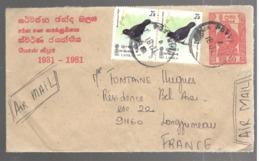 24692 - Entier  Pour La France - Sri Lanka (Ceylan) (1948-...)