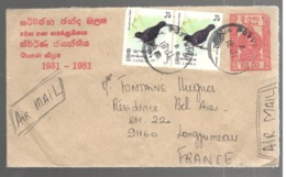 24692 - Entier  Pour La France - Sri Lanka (Ceylon) (1948-...)