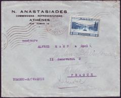 Greece - 1935 - Olympic Stadium - Letter - Estate 1936: Berlino