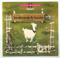 JC , 45 T ,vinyl , Livre Disque , LA CHEVRE DE M. SEGUIN , A. Daudet, Orchestre C. Ravier, 5 Scans,  Frais Fr 5.50 E - Autres Collections