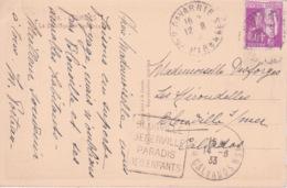 OBLITERATION CACHET DAGUIN SUR CPA - BLONVILLE BENERVILLE PARADIS DES ENFANTS CALVADOS - - Poststempel (Briefe)