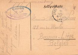 Feldpostkarte Expédiée Par Un Prisonnier Du Camp De Hammelburg Vers Bressoux-Liège - WW I