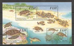 B875 FIJI FAUNA HAWKSBILL TURTLES !!! MICHEL 11 EURO !!! 1KB MNH - Turtles