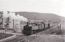42 Carte Photo BELMONT  Passage D'un Train - Belmont De La Loire
