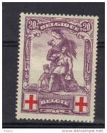 BELGIQUE COB 128 * MH, FAUX. VALS . (3T108) - 1914-1915 Red Cross