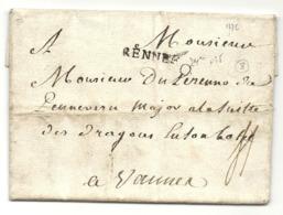 Ille Et Vilaine - Rennes (DE LA MAISONNEUVE) Pour DU PERENNO DE LA PENNERIE, Major à La Suite Des Dragons à Vannes - 1701-1800: Précurseurs XVIII