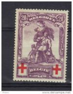 BELGIQUE COB 128 * MH, FAUX. VALS . (3T109) - 1914-1915 Red Cross