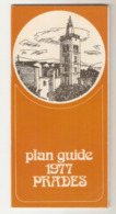 Pyrénées- Orientales Plan Guide De Prades 1977 Vintage (orange) Tourisme - Karten
