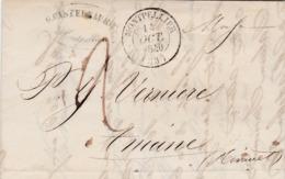 LAC De Monpellier (34) Pour Aniane (34) - 14 Octobre 1840 - CAD Type 14 & 12 Gignac - TM 2 + Marque Linéaire 33 Aniane - 1801-1848: Precursori XIX