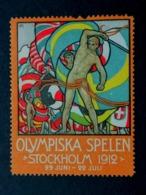 STOCKHOLM  1912     OLYMPISKA SPELEN  SUEDE OLYMPIC GAMES  ERINNOPHILIE  CHIUDILETTERA - Sommer 1912: Stockholm