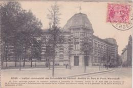 BELGIQUE - MONS - INSTITUT COMMERCIAL DES INDUSTRIELS DU HAINAUT - AV DU PARC ET PLACE WAROCQUE - Mons