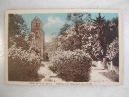 COURANCES - L'église Et Le Monument Aux Morts - France