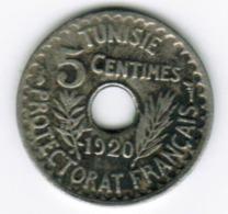 TUNISIE - 5 CENTIMES 1920 Petit Module - Tunisia
