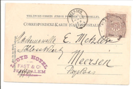 Palestina Turkey Jerusalem 4.8.99 Lloyd Hotel Fast & Co>Meersen Kleinrond.PC Monastère Sur La Route De Jericho - Palästina