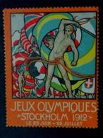 JEUX OLYMPIQUES STOCKHOLM 1912 Svezia  SUEDE OLYMPIC GAMES  ERINNOPHILIE  CHIUDILETTERA - Sommer 1912: Stockholm