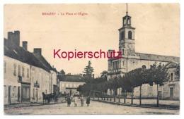 Brazey-en-Plaine 1911, La Place Et L'Eglise - Autres Communes