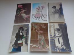 Beau Lot De 60 Cartes Postales De Fantaisie Femmes Femme   Mooi Lot Van 60 Postkaarten Fantasie Vrouwen Vrouw - 60 Scans - Postkaarten